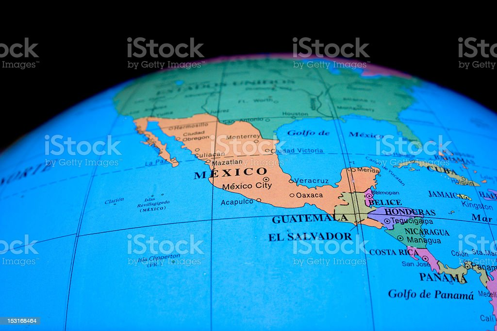 Globe - Mexico stock photo