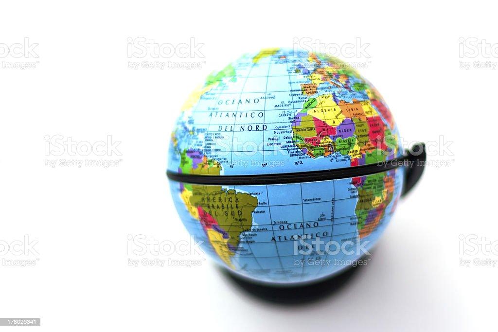 Globus-Modell auf weißem Hintergrund – Foto