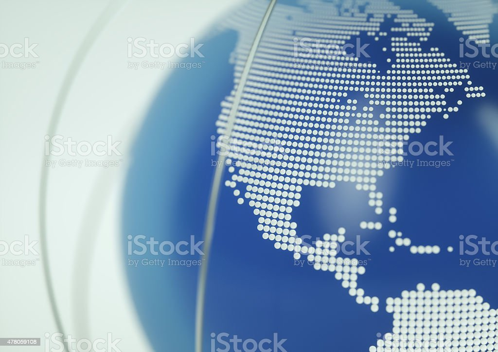 Globe North America stock photo