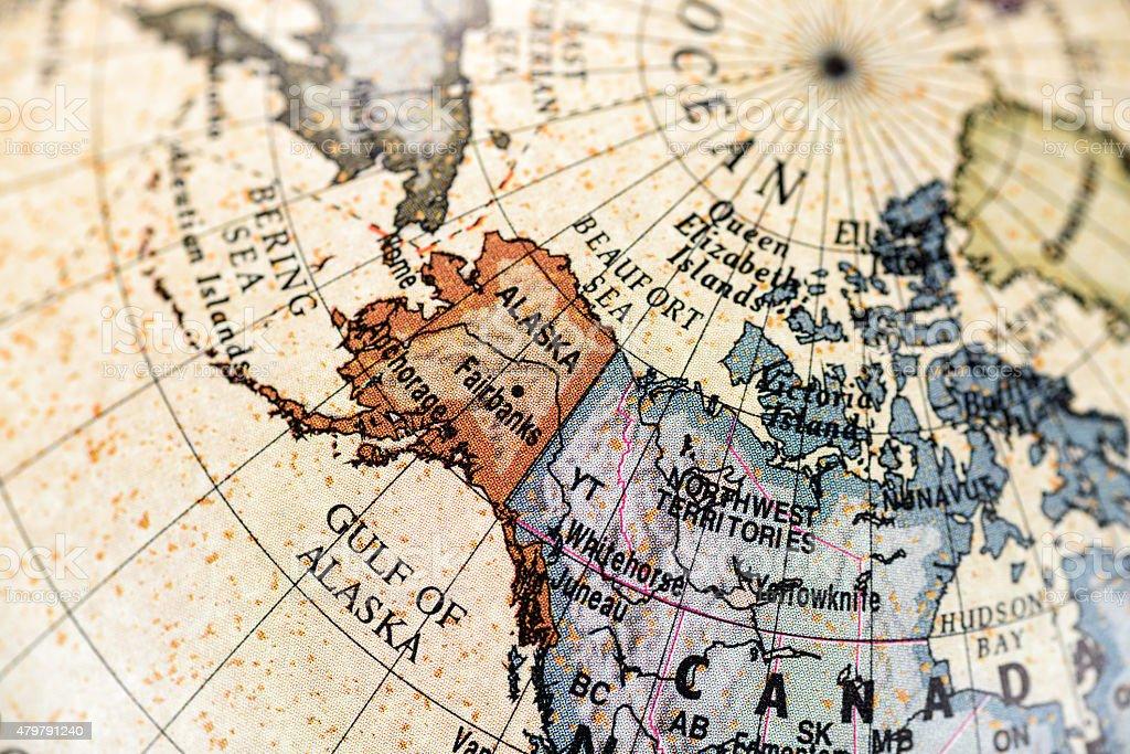 Globe North America stock photo