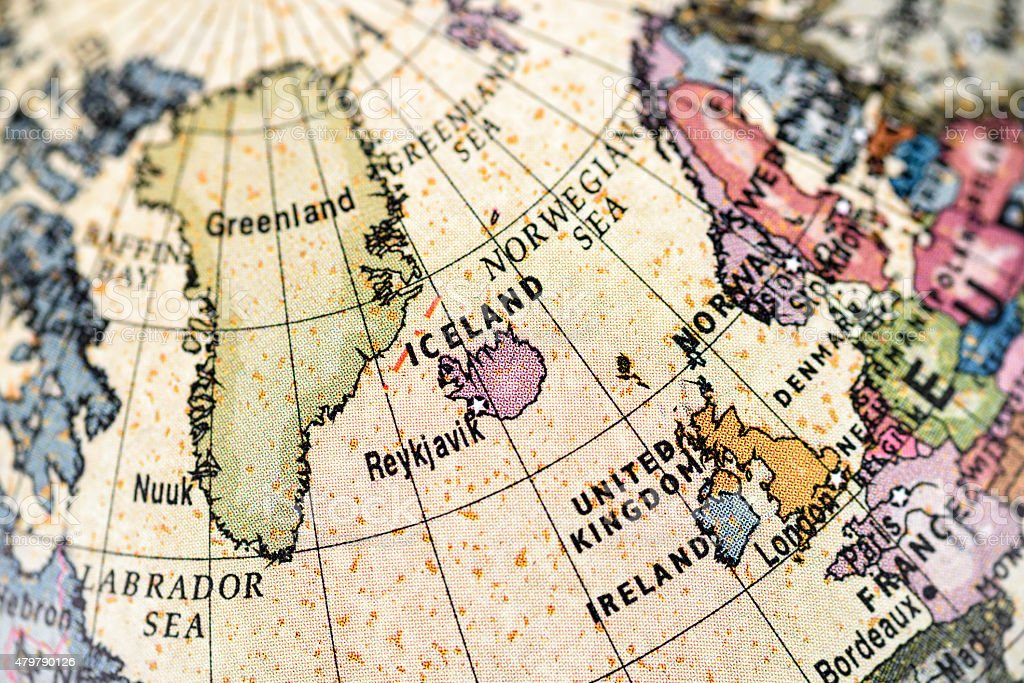 Globe Northern Europe stock photo