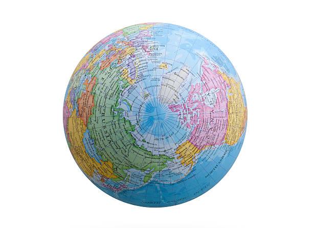 globo. hemisfério norte. - mapa mundi imagens e fotografias de stock