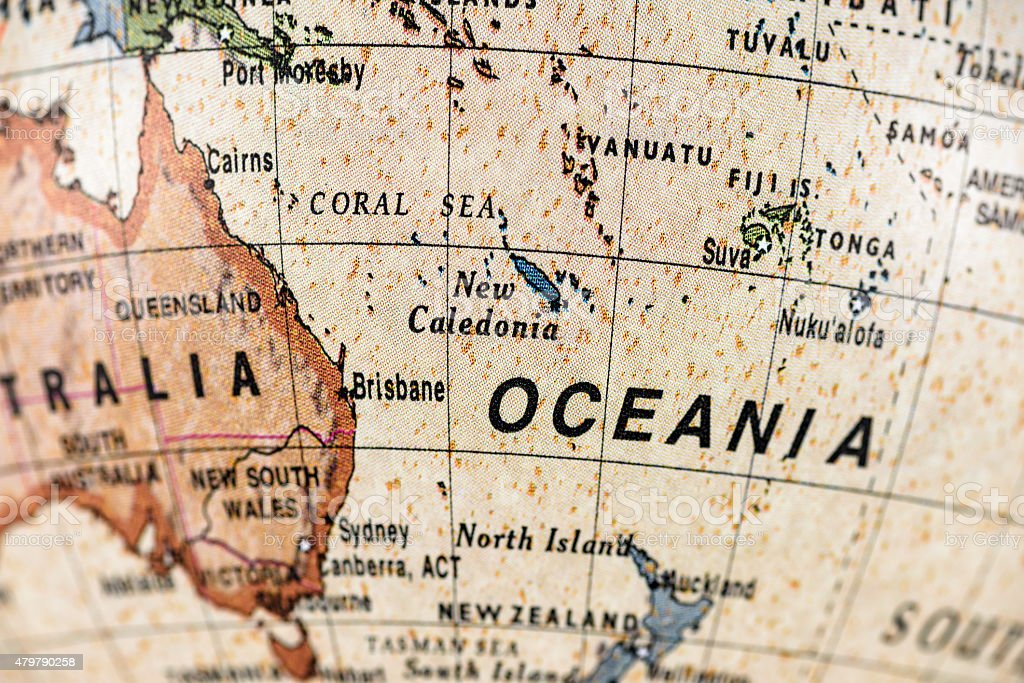 Globe Oceania stock photo