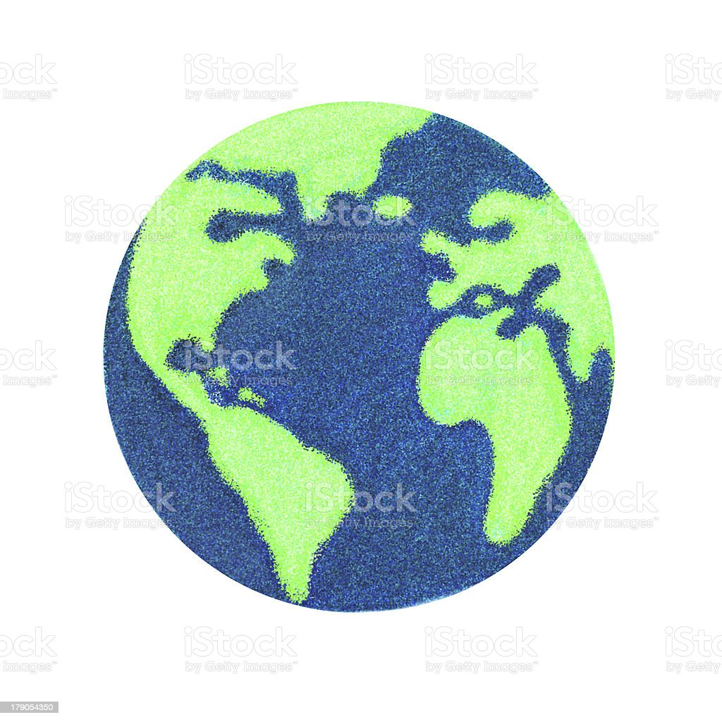 Globe of Earth painting royalty-free stock photo
