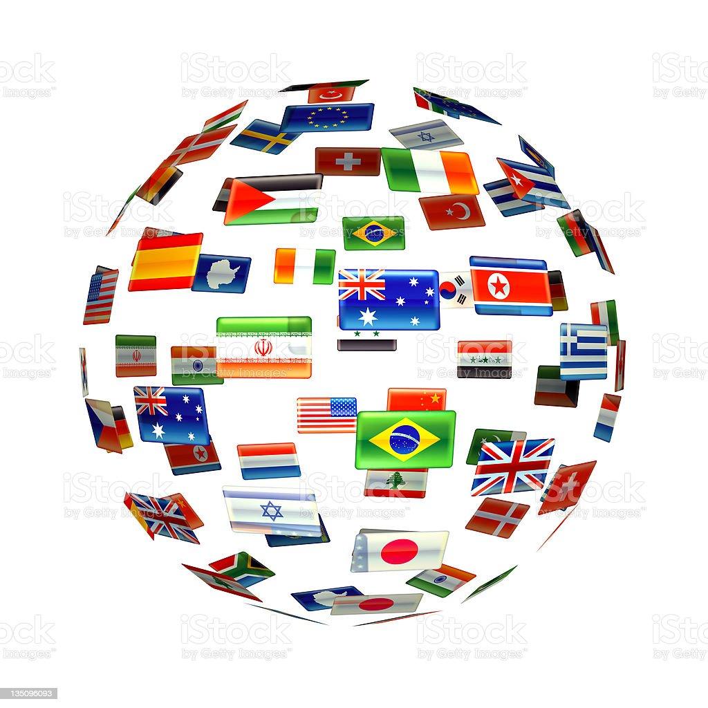 globe of world flags stock photo 135096093 istock