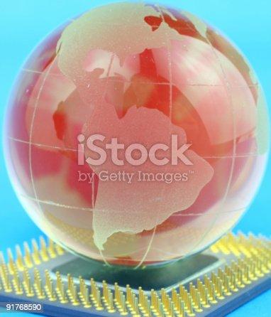 185274311istockphoto Globe on chip 91768590