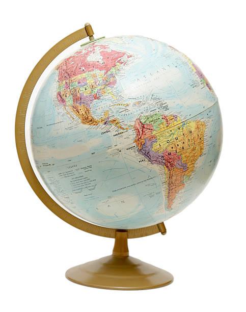 Globe on the Americas stock photo