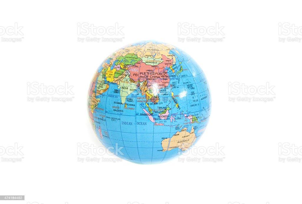 Mundo sobre fondo blanco, Aislado en blanco - foto de stock