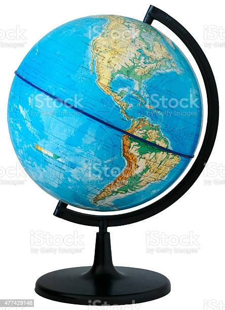 Globe Physical Map Stock Photo - Download Image Now