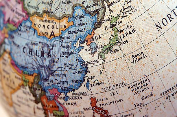 globe (east asia) - 東方 個照片及圖片檔