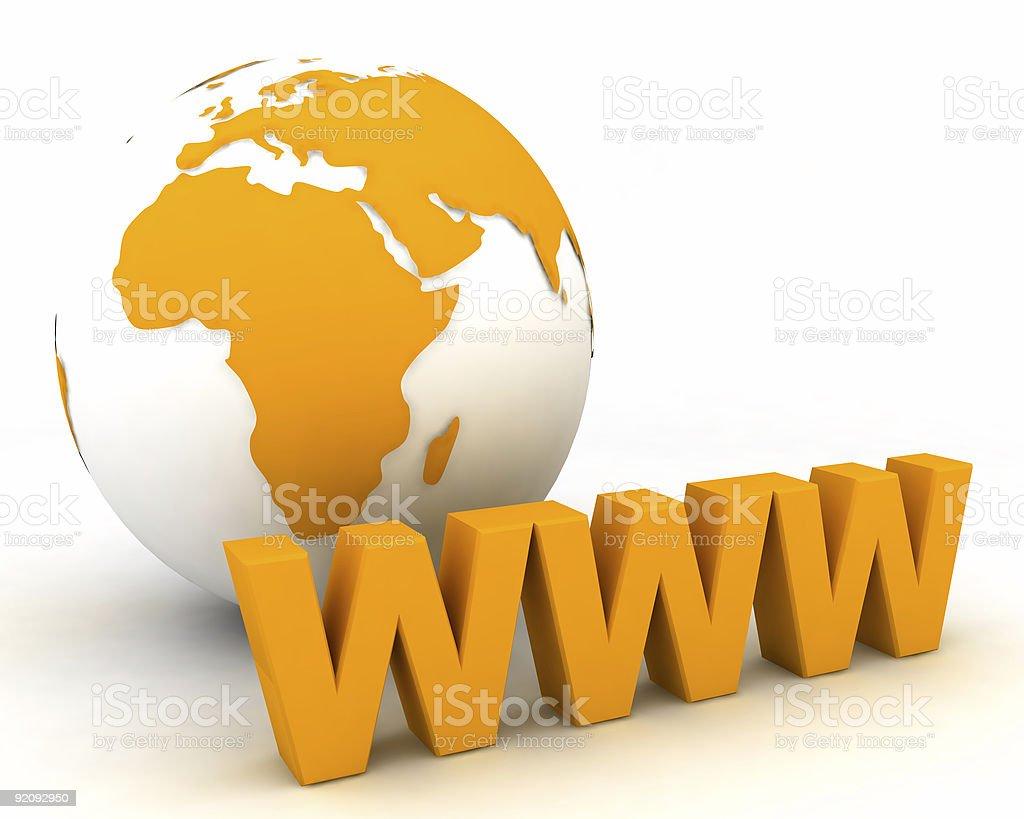 WWW globe royalty-free stock photo