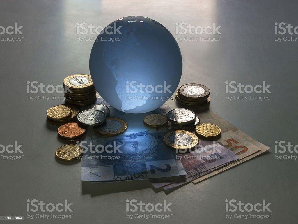Globe real stock photo