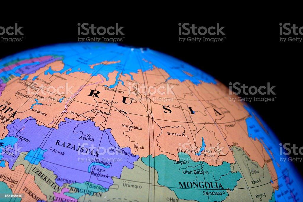 Globe - Russia royalty-free stock photo