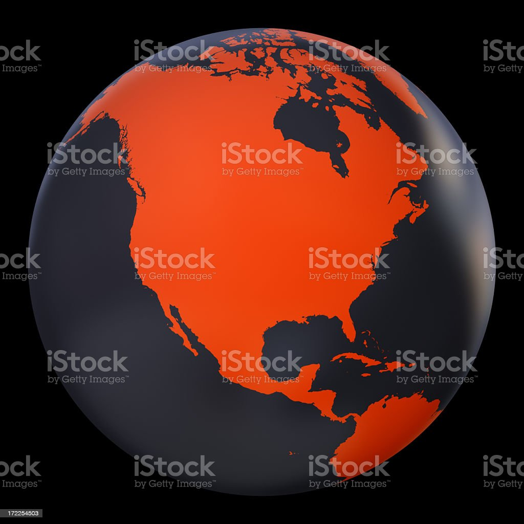 Globe Series: Metallic / Orange (with clipping path) royalty-free stock photo