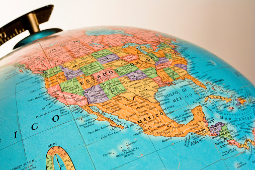 istock Globe showing Mexico and USA 531412821