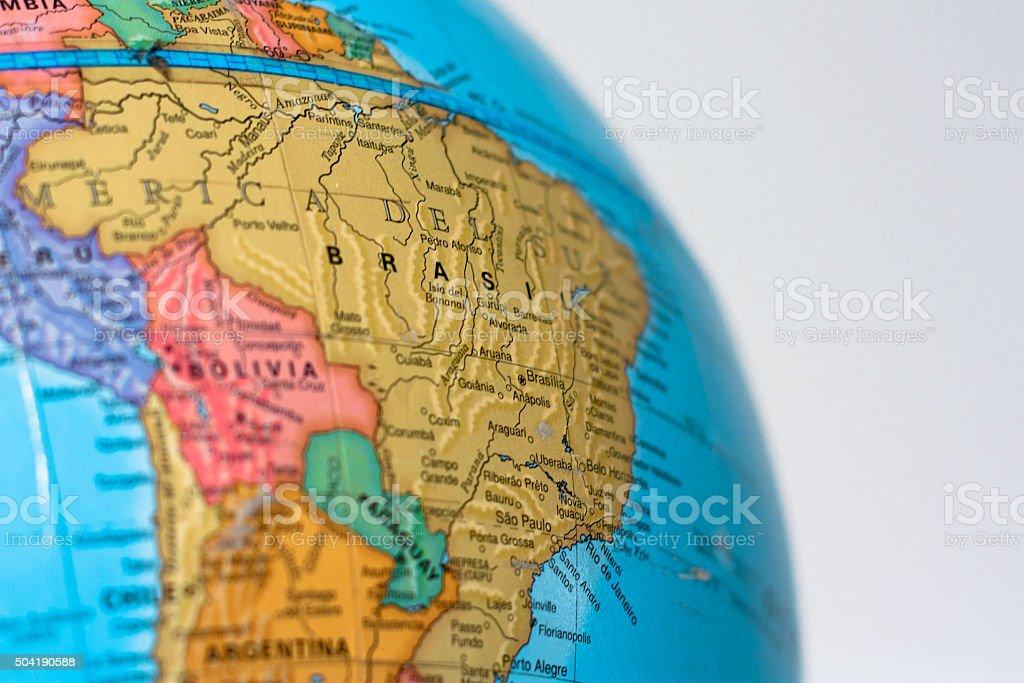 Globos mostrando Southamerica - foto de stock