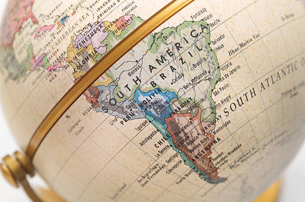 Globe South America Globe South America latin america stock pictures, royalty-free photos & images