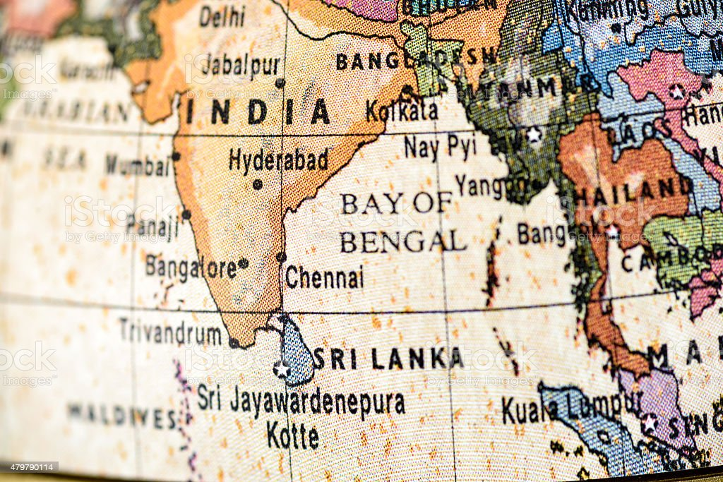 Globe South Asia stock photo