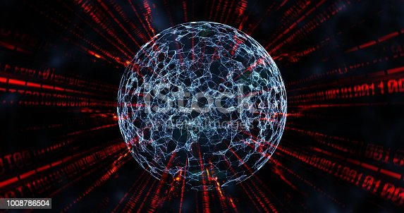 globe surrounded by communication networks