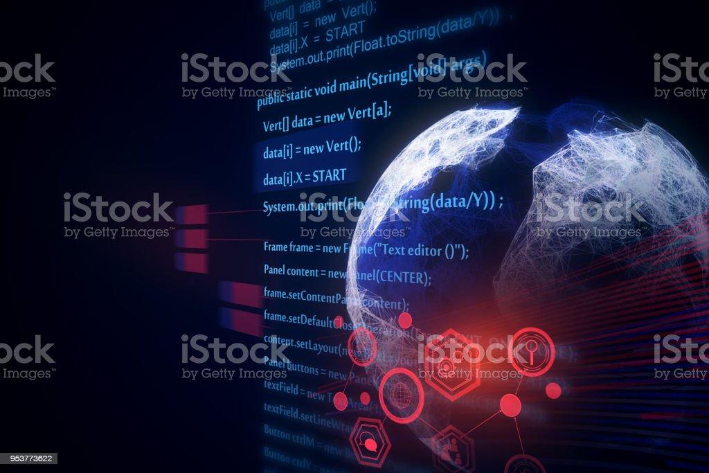 HTML globe texture stock photo