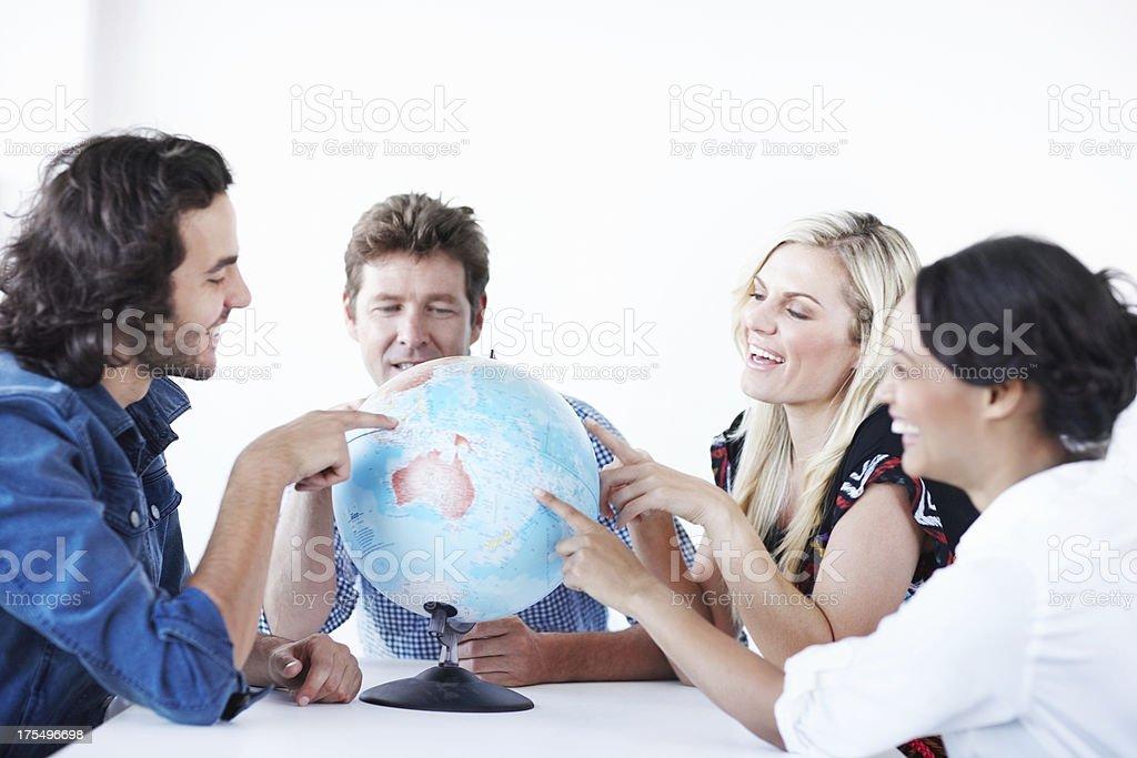 Globe trotting royalty-free stock photo