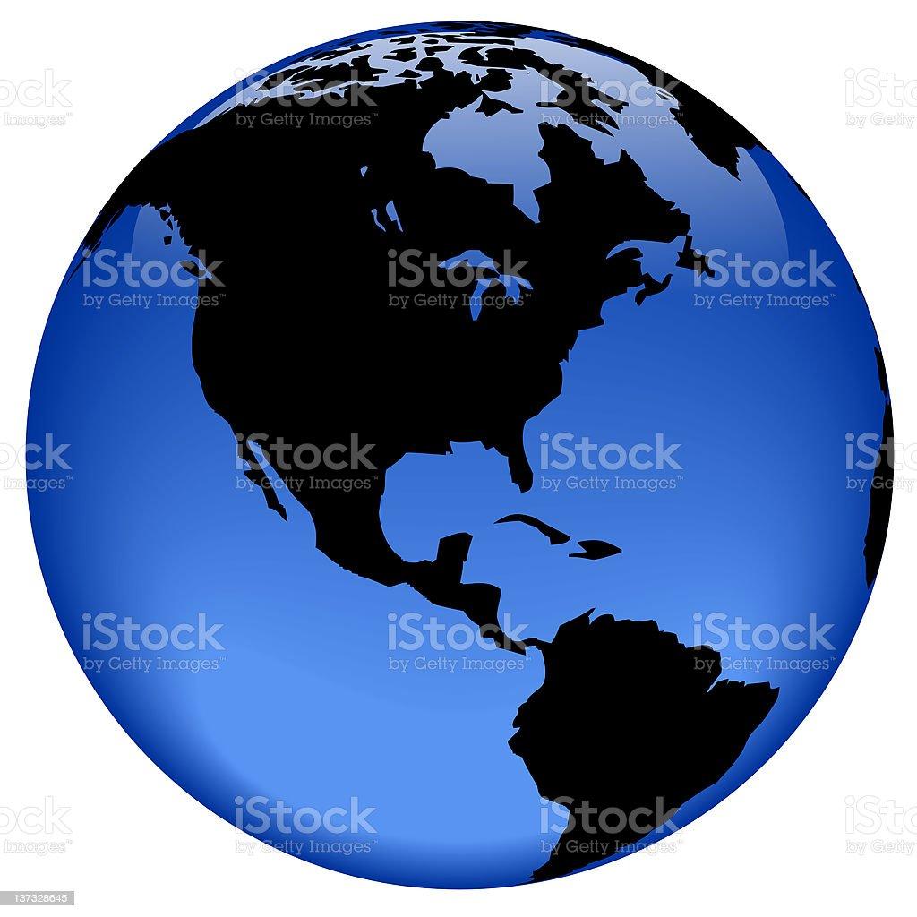Globe view - America royalty-free stock photo