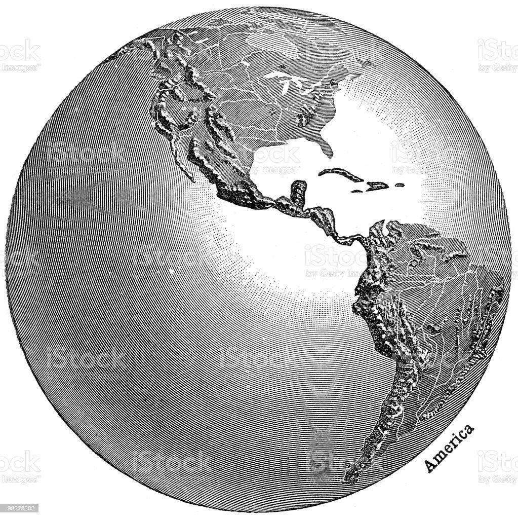 Globe View - Americas royalty-free stock photo
