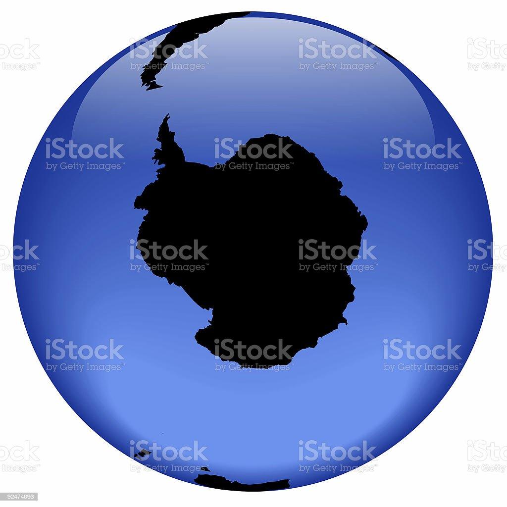 Globe view - Antarctica royalty-free stock photo