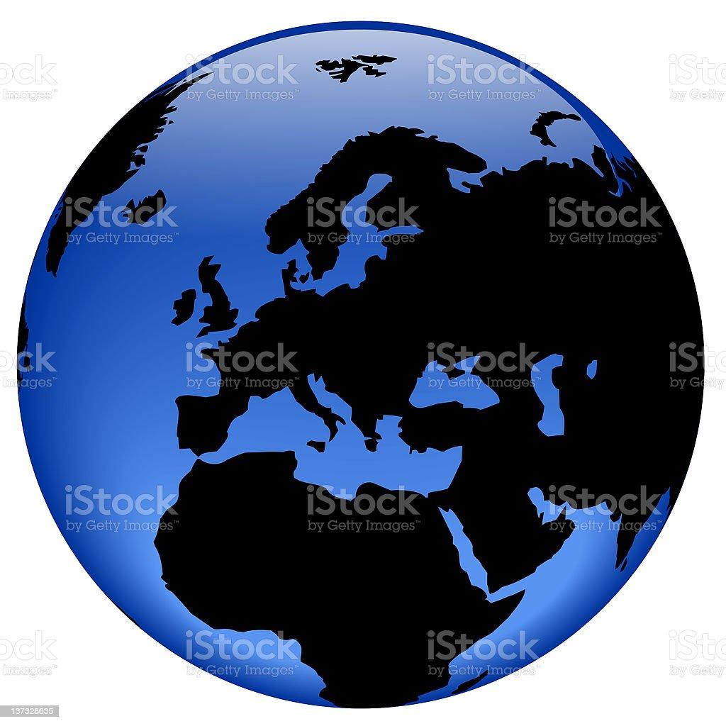 Globe view - Europe royalty-free stock photo