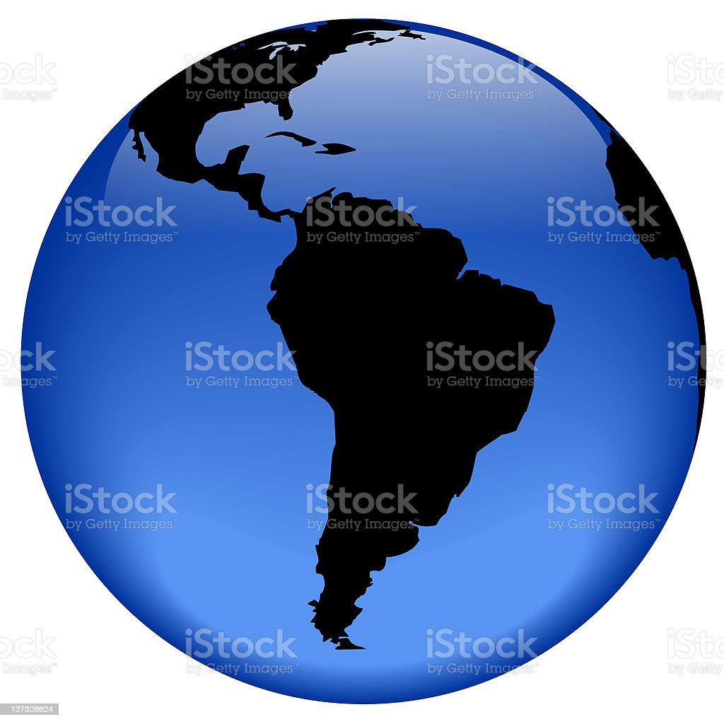Globe view - South America royalty-free stock photo