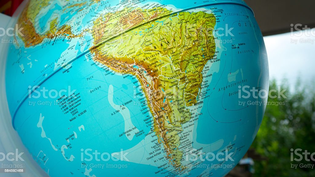 Globe with Brazil and South America – Foto