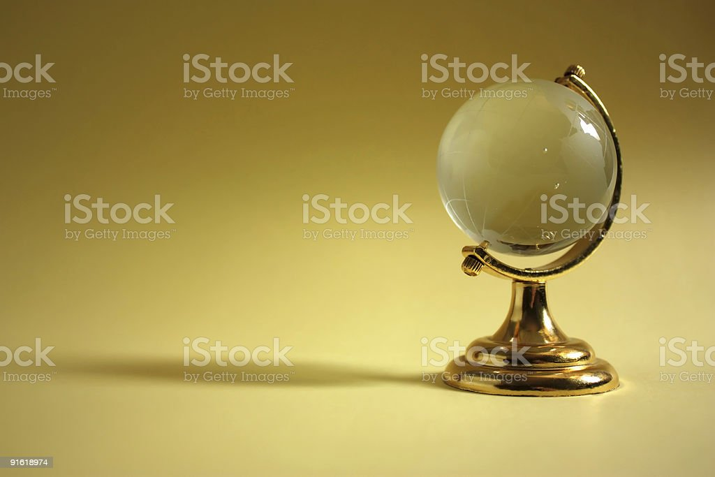 Globe with copy-space royalty-free stock photo