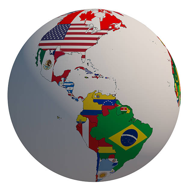 American Flag And Globe Of Usa Pictures Images And Stock Photos - Globe of usa