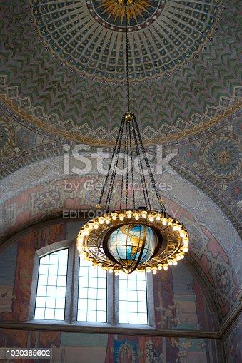 989624498istockphoto Globe with light 1020385602