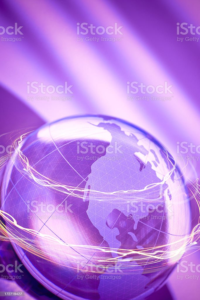 Globe with Lights royalty-free stock photo
