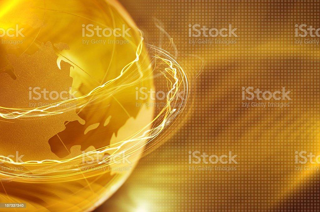 Globe with lines around stock photo