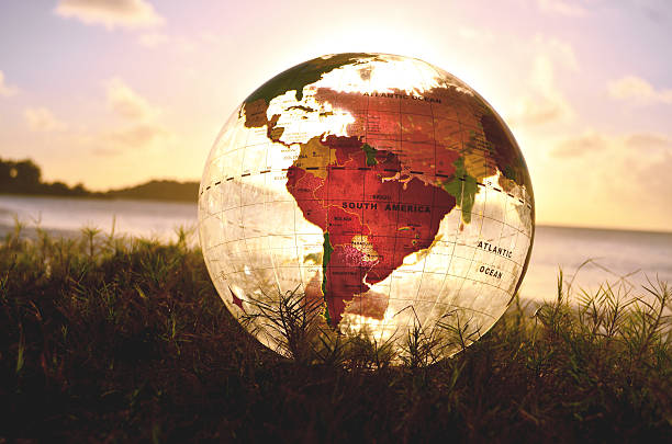globe with south america featured globe with south america featured latin america stock pictures, royalty-free photos & images