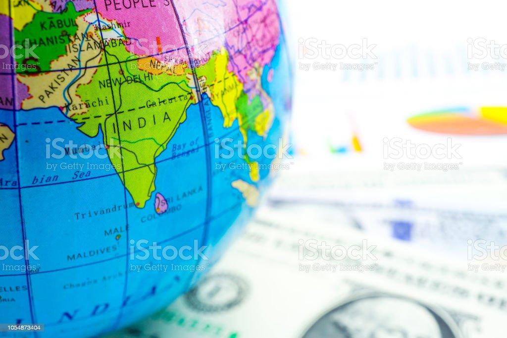 Bangkok Thailand October 14 2018 Globe World Map On Chart
