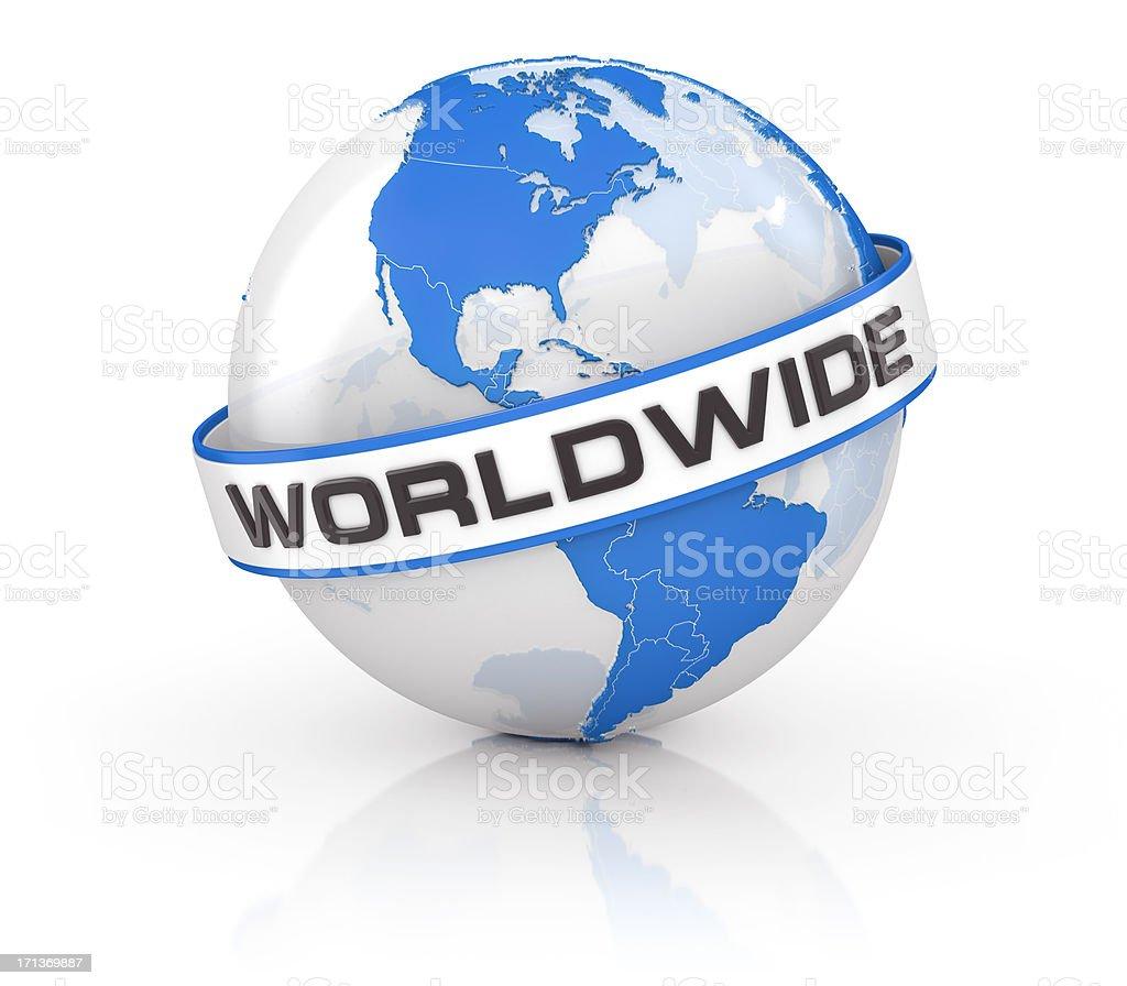 Globe - worldwide royalty-free stock photo