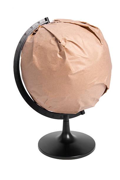 Globe wrapped stock photo