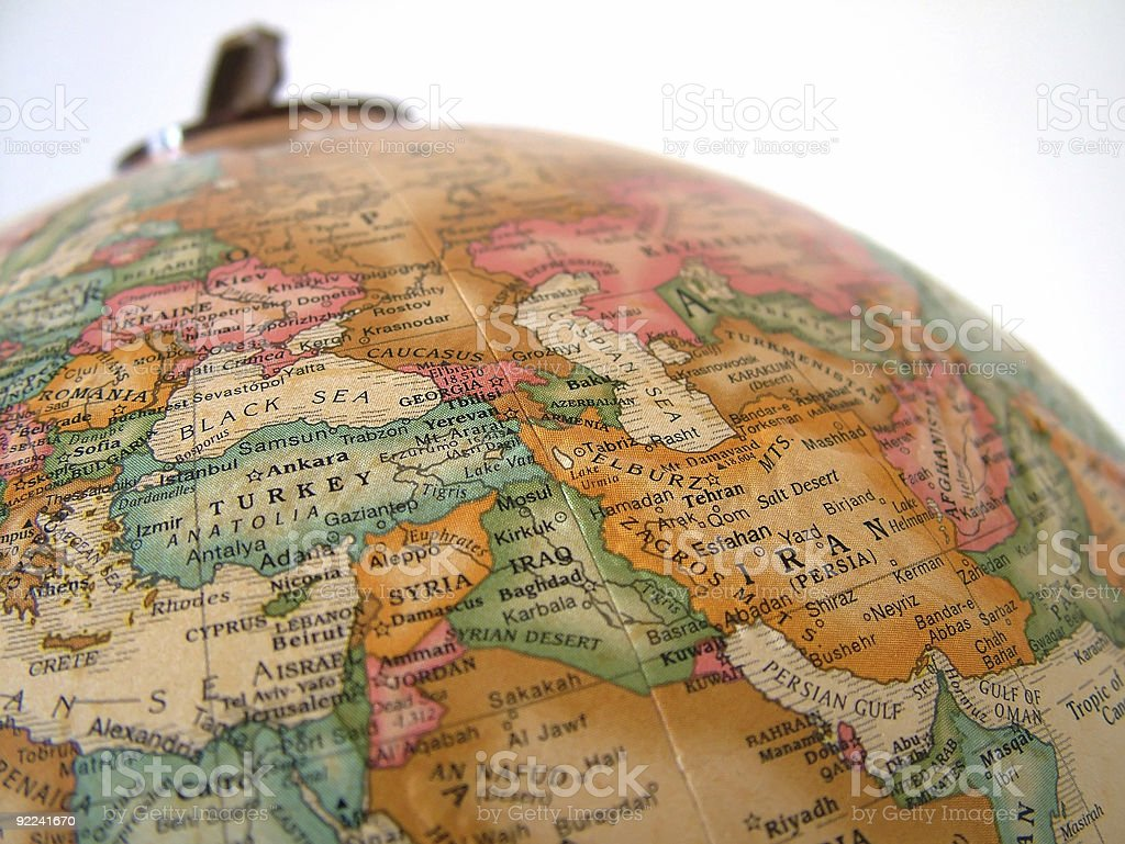 Globe_Middle East royalty-free stock photo