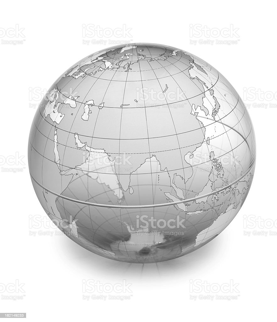 Globe-Asia royalty-free stock photo