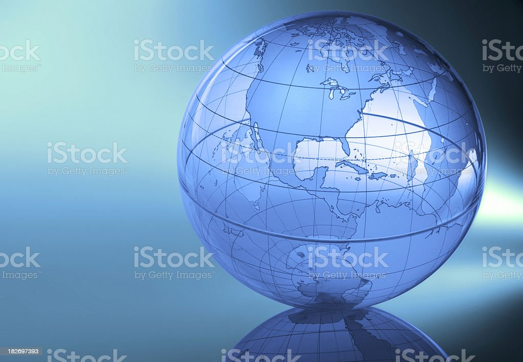 Globe-North America royalty-free stock photo