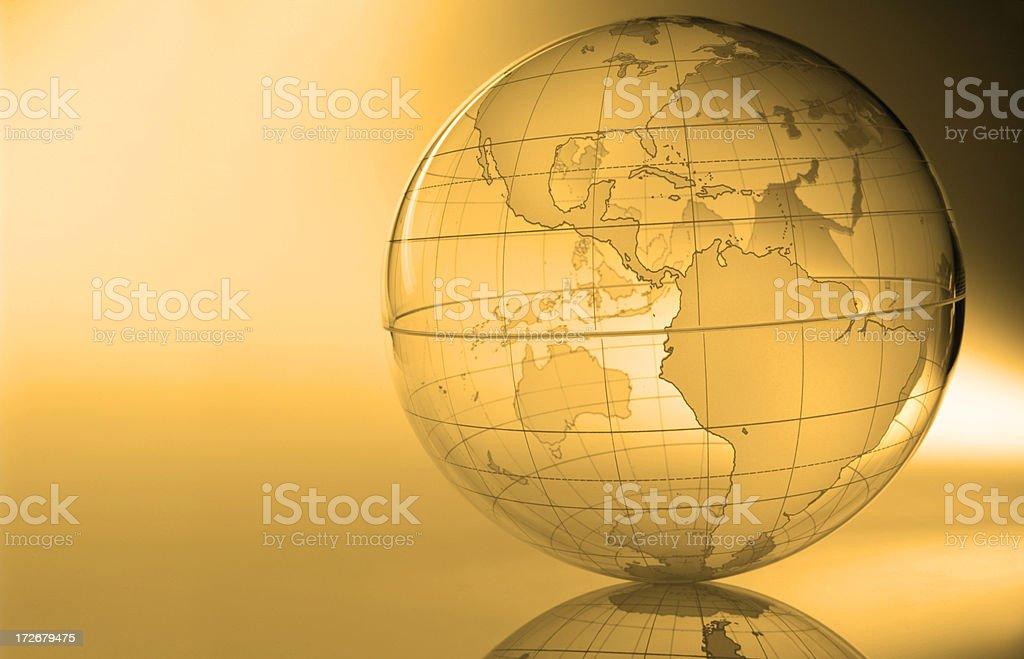 Globe-The Americas royalty-free stock photo