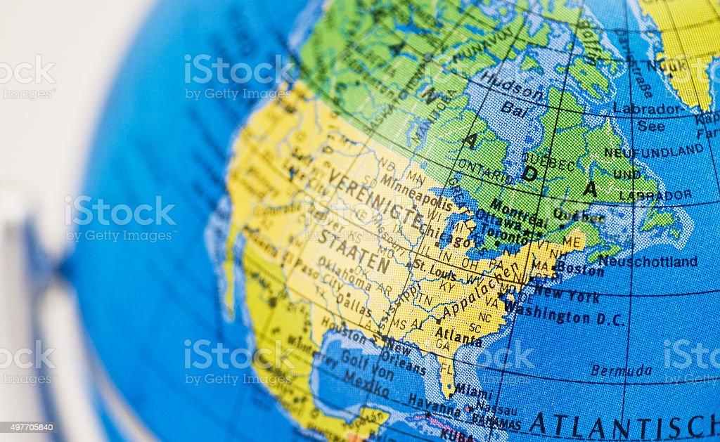 Globus Mit Landkarte Nordamerika Foton Och Fler Bilder Pa 2015 Istock
