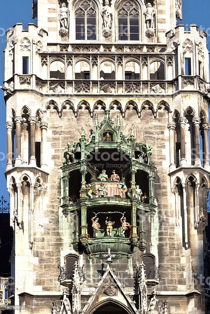 Glockenspiel on the Munich city hall royalty-free stock photo