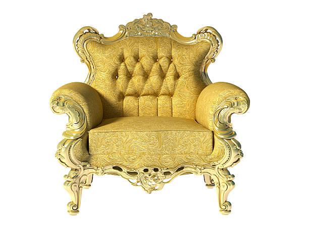 glod fotel klasyczny luksus - tron zdjęcia i obrazy z banku zdjęć