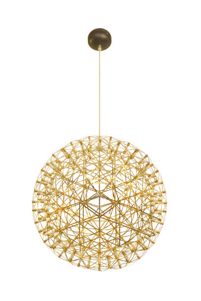 Glod vintage style ceiling lamp Glod vintage style ceiling lamp for interior decoration chandelier stock pictures, royalty-free photos & images