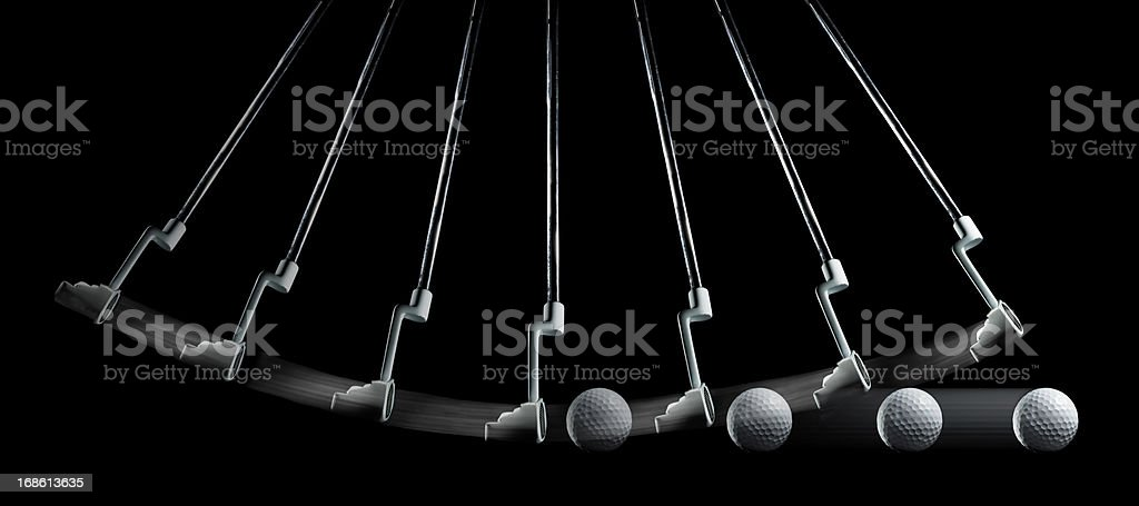 Glof Putting Sequence stock photo