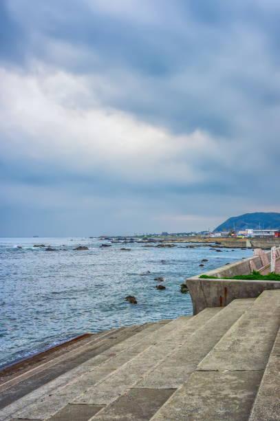 Gloomy day at Chiba coast, Japan stock photo
